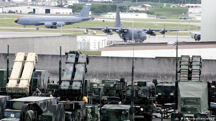 سیستم دفاع موشکی پاتریوت آمریکا که در ژاپن مستقر شده است