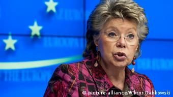 European Commissioner in charge of Justice, fundamental rights and citizenship, Viviane Reding (Photo: Wiktor Dabkowski/ DW)