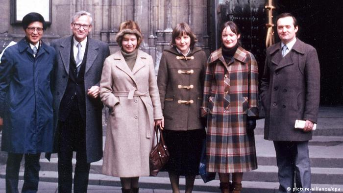 Studentin Angela Merkel in Prag, 1982