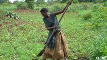 Bäuerin in Uganda