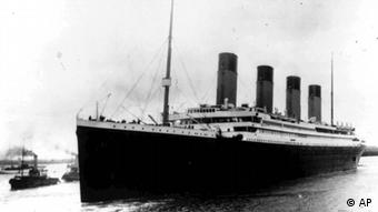 Das Passagierschiff Titanic am 10 April 1912 in Southampton, England