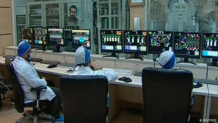 Workers are seen in what is described by Iranian state television as an enrichment control room at a facility in Natanz, in this still image taken from video released February 15, 2012. (Photo: REUTERS/ IRIB Iranian TV)
