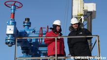 Sergey Wlasov (links) und Ingo Neubert leiten das deutsch-russische Joint Venture Achimgaz nahe der Polarstadt Nowy Urengoi. Dieses Tochterunternehmen der Gazprom und der Wintershall fördert in West-Sibirien Erdgas.Copyright: DW/Andrey Gurkov
