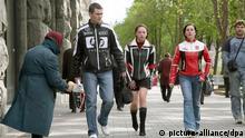 Ukraine Land und Leute Bettlerin in Kiew