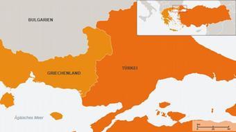 Karte Griechenland Türkei Grenze
