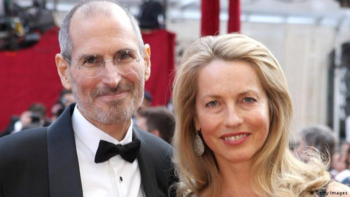 USA Mode Laurene Powell mit Steve Jobs in Hollywood (Getty Images)