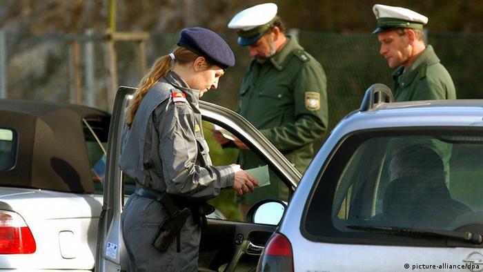 Deutschland Österreich Grenzkontrolle in Musau
