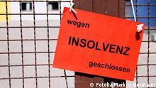 Symbolbild wegen Insolvenz geschlossen