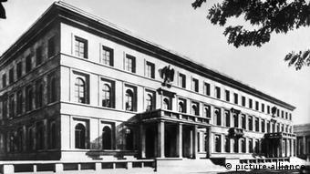 An historic photo of the Nazi Party headquarters