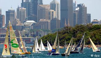 Reiche Städte Sydney Metropole Australien Segelregatta