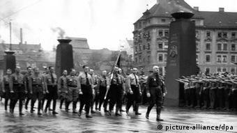 A Nazi march in Munich in 1935