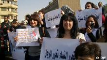 Ägypten Frauen Demo in Kairo, am 05.02.2012