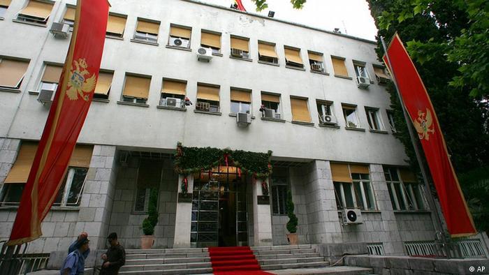 Das Parlamentsgebäude in Podgorica, Montenegro