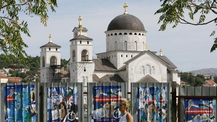 Kirche in Podgorica, Montenegro