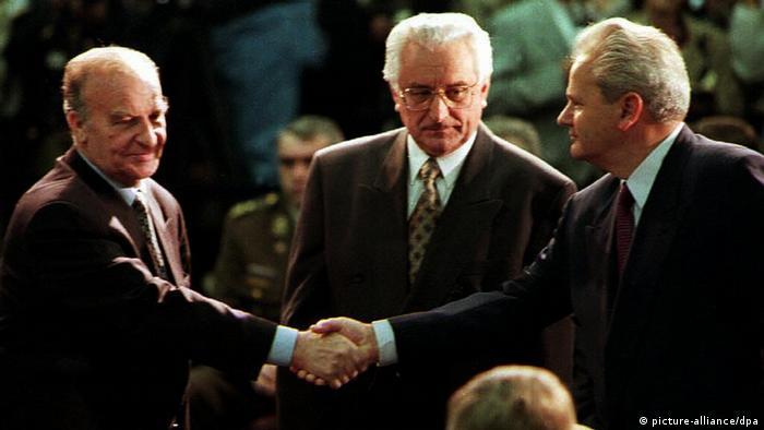 Izetbegović, Tuđman i Milošević u Dejtonu