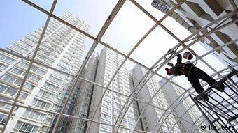China Wirtschaft Bauboom in Taiyuan Hochhäuser