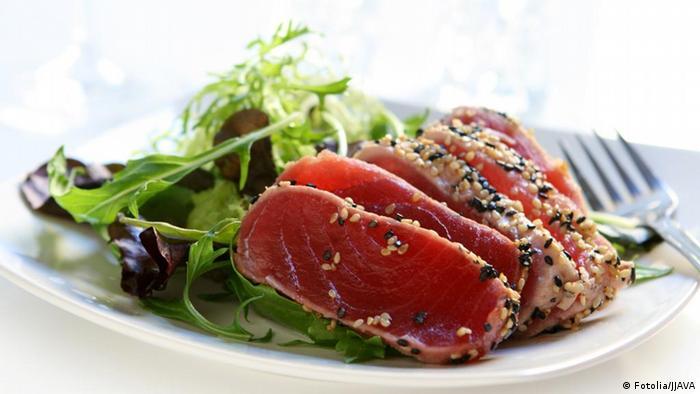 Seared Ahi Tuna Salad Thunfischfilet Salat Japanisch
