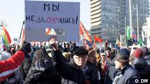 Kundgebung der Opposition in Moskau gegen den neugewählten Präsidenten Wladimir Putin