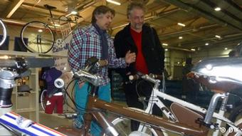 Florian Dobner (left) who targets young, confident, high earners with his electric mountain bike