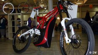 An E-Fully, a mountain bike with an electric bike selling for about 7000 euros