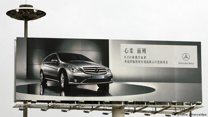 China Mercedes Benz Reklame in Peking