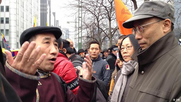 Tibet-Aufstand, Brüssel, Demo