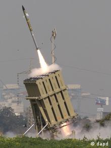 """سامانه پدافند موشکی اسرائیل موسوم به """"گنبد آهنین"""""""
