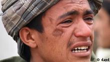 یکی از ساکنان روستایی که ۱۶ نفر از ساکنان آن قتلعام شدند