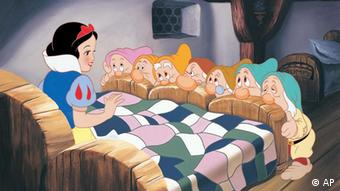 A scene from Snow White and the Seven Dwarves