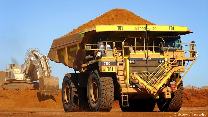 truck at nickel mining plant in australia