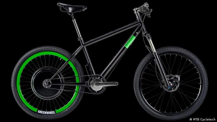 An electric mountain bike
