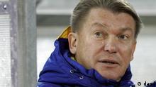 Ukraine Fußball Tainer Oleg Blokhin in Kaunas Litauen