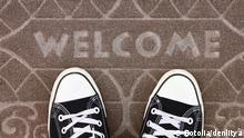 Fußmatte Willkommen