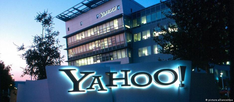 A sede do Yahoo em Sunnyvale, Califórnia