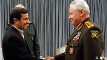 ژنرال صفر ابیاف، وزیر دفاع آذربایجان، و محمود احمدینژاد در تهران بر مناسبات تنگاتنگ ایران و آذربایجان تأکید کردند