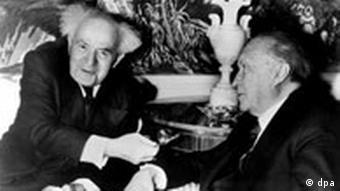 Treffen Konrad Adenauer - Ben-Gurion, 12.05.2005 diplomatische Beziehungen zwischen Deutschland und Israel