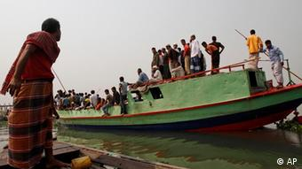 Bangladeshi nationals on a boat