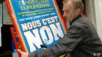 EU Verfassung Volksabstimmung in Frankreich Plakat