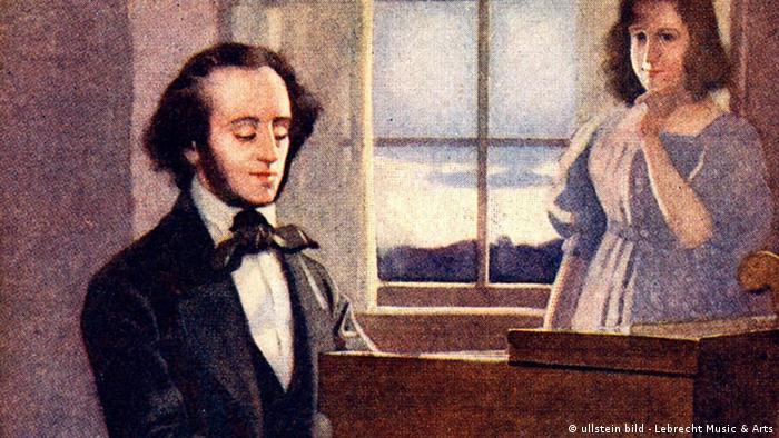Deutschland Geschichte Bildergalerie Juden in Berlin Aufklärung Felix Mendelssohn-Bartoldy Fanny