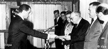 Deutscher Botschafter in Israel 1965 akkreditiert