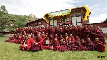 Tibet Mönche von Karma Tempel wurden vertrieben