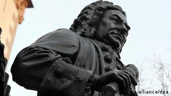 Johann Sebastian Bach memorial statue in Leipzig