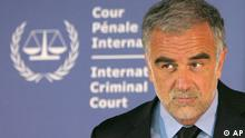 File -- IN a Feb. 27, 2007 file photo the International Criminal Court's prosecutor Luis Moreno-Ocampo reacts during a press conference in The Hague, Netherlands. In a briefing to the Security Council on Nov. 2, 2011, about Nato in Libya, Moreno-Ocampo said there are allegations of crimes committed by NATO forces (and) these allegations will be examined impartially and independently. (AP Photo/Peter Dejong/file)