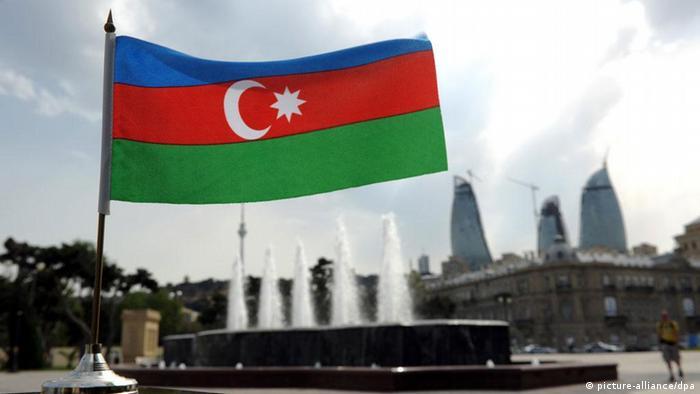 Aserbaidschan Flagge Fahne Baku