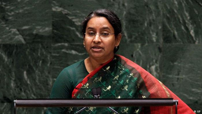Bangladesh's Foreign Minister Dipu Moni addresses the Nuclear Nonproliferation Treaty (NPT) conference at United Nations headquarters, Tuesday, May 4, 2010. (ddp images/AP Photo/Richard Drew)