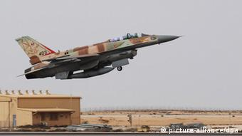An F-16I fighter plane takes off at Ramon Air Base in Negev, southern Israel