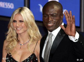 Heidi Klum y Seal, una pareja multicultural.