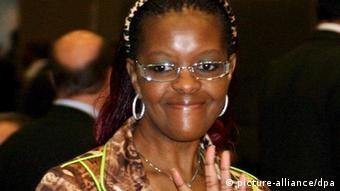 Simbabwes First Lady Grace Mugabe 2008 in Johannesburg (Foto: picture-alliance/dpa):