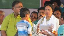 Prämierministerin Mamta Banerjee besucht das Dorf Nandigram, West Bengalen, Indien. Copyright: DW/Prabhakar Mani Tiwari Kolkata, 14.03.2012