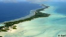 Tarawa atoll, Kiribati, is seen in an aerial view. Photo:Richard Vogel, File/AP/dad